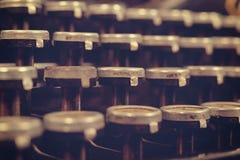 Fermez-vous vers le haut des clés de machine à écrire Photographie stock