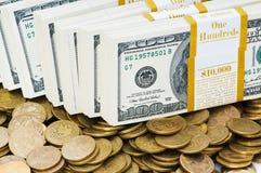 Fermez-vous vers le haut des dollars Photo stock