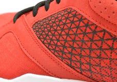 Fermez-vous vers le haut des espadrilles de texture de chaussure de course ou d'espadrille Photo stock