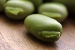 Fermez-vous vers le haut des fèves crues fraîches Photo stock