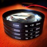 Fermez-vous vers le haut des lentilles Images stock