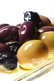 Fermez-vous vers le haut des olives Photo stock