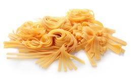 Fermez-vous vers le haut des pâtes italiennes plates fraîches Images stock