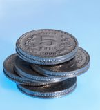 Fermez-vous vers le haut des pièces de monnaie Photo stock