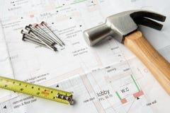 Fermez-vous vers le haut des plans de maison Image stock