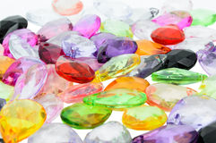 Fermez-vous vers le haut des programmes en plastique colorés. Image libre de droits