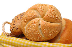 Fermez-vous vers le haut des roulis de pain Image stock