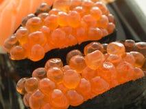 Fermez-vous vers le haut des sushi d'Ikura Images libres de droits