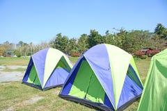 Fermez-vous vers le haut des tentes pour le touriste à la source thermale Chiang Mai, Thaïlande de sankampang image libre de droits