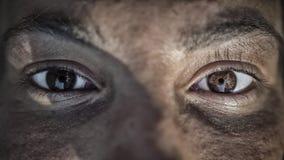 Fermez-vous vers le haut des yeux Photographie stock libre de droits