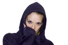 Fermez-vous vers le haut des yeux bleus femelles Photos libres de droits