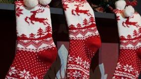 Fermez-vous vers le haut du bas de Noël trois clips vidéos