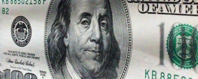 Fermez-vous vers le haut du billet d'un dollar Photo libre de droits