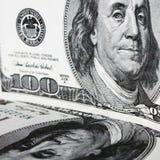 Fermez-vous vers le haut du billet d'un dollar Photos libres de droits