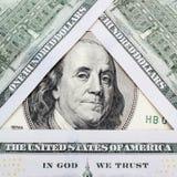 Fermez-vous vers le haut du billet d'un dollar Photographie stock libre de droits