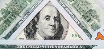 Fermez-vous vers le haut du billet d'un dollar Photo stock
