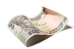 Fermez-vous vers le haut du billet de banque de 200 nairas Images libres de droits