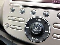 Fermez-vous vers le haut du bruit audio à l'intérieur de la voiture automatique Photo libre de droits