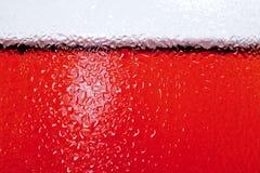 Fermez-vous vers le haut du côté de la glace avec du vin rosé Images libres de droits
