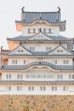 Fermez-vous vers le haut du château de Himeji dans la ville de Himeji, Japon Photo libre de droits