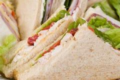 Fermez-vous vers le haut du champ de cablage à couches multiples de sandwich Photos stock