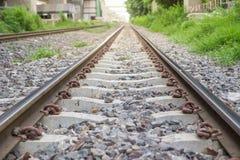 Fermez-vous vers le haut du chemin de fer Images stock