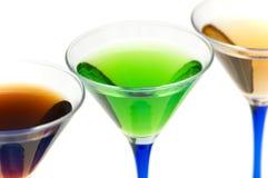 Fermez-vous vers le haut du cocktail vert Photos stock