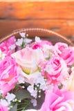 Fermez-vous vers le haut du concept doux d'amour de rose de rose Image stock