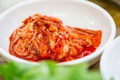 Fermez-vous vers le haut du Coréen Kimchi images libres de droits