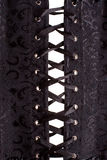 Fermez-vous vers le haut du corset noir Photo libre de droits