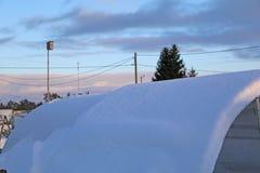 Fermez-vous vers le haut - du coucher du soleil un jour d'hiver photographie stock