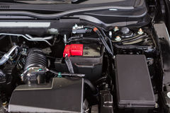 Fermez-vous vers le haut du détail du moteur de voiture Photos stock