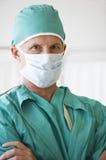 Fermez-vous vers le haut du docteur mâle Image libre de droits