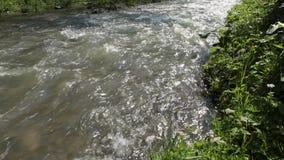 Fermez-vous vers le haut du flot de l'eau E banque de vidéos