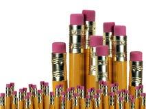 Fermez-vous vers le haut du fond de crayons Photo stock