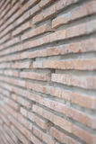Fermez-vous vers le haut du fond de mur de briques Image stock