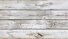 Fermez-vous vers le haut du fond des planches en bois peintes par blanc photos libres de droits