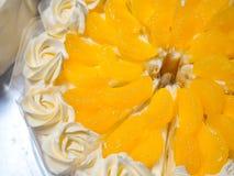 Fermez-vous vers le haut du gâteau faisant dans l'industrie de gâteau Images libres de droits