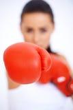 Fermez-vous vers le haut du gant de boxe Photo libre de droits