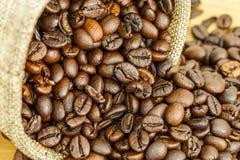 Fermez-vous vers le haut du grain de café Photographie stock libre de droits