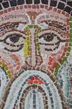 Fermez-vous vers le haut du graphisme religieux de mosaïque Photo stock