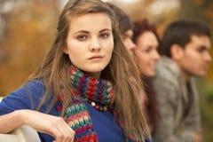 Fermez-vous vers le haut du groupe d'amis d'adolescent Photos libres de droits