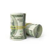 Fermez-vous vers le haut du groupe de dollar US 100 illustration libre de droits