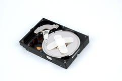 Fermez-vous vers le haut du lecteur de disque dur ouvert moderne Photo stock
