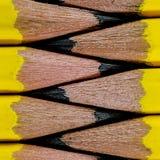 Fermez-vous vers le haut du macro groupe du crayon Images libres de droits