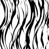 Fermez-vous vers le haut du modèle d'animal de rayure illustration de vecteur