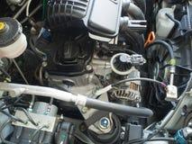 Fermez-vous vers le haut du moteur de voiture Photos libres de droits