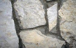Fermez-vous vers le haut du mur en pierre images libres de droits