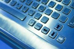 Fermez-vous vers le haut du panneau de touche d'ordinateur. Photographie stock