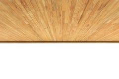 Fermez-vous vers le haut du plafond en bois d'isolement sur le blanc Images stock